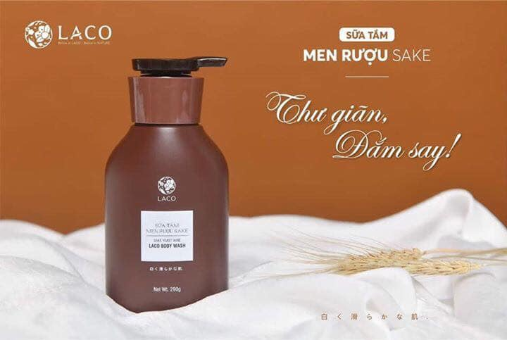 Sữa tắm men rượu Sake Laco