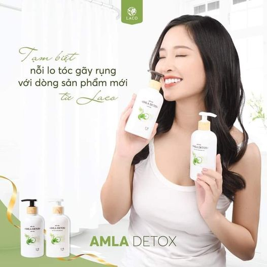 Tạm biệt nỗi lo tóc gãy rụng với dòng sản phẩm Amla Detox Laco